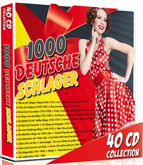 1000 deutsche Schlager 40 CDs