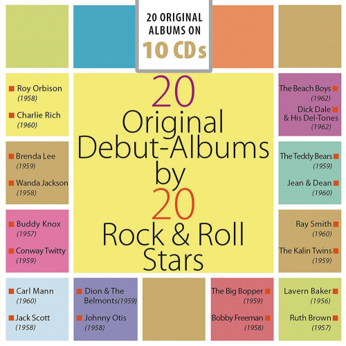 20 Original Debüt Alben von 20 Rock and Roll Stars. 10 CDs.