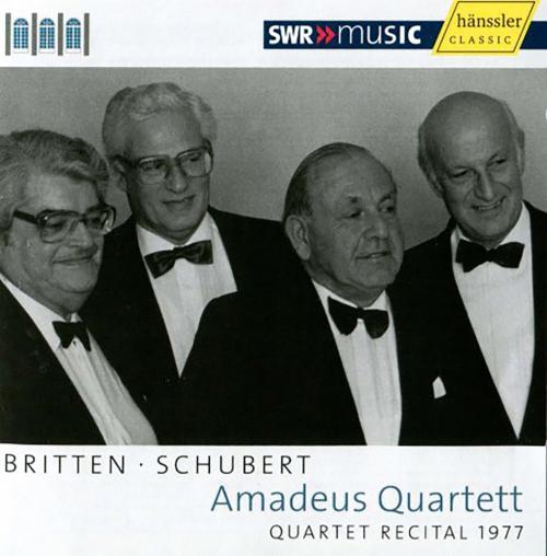 Amadeus Quartett. Quartet Recital 1977. Britten & Schubert.