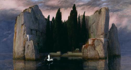 Arnold Böcklin. Die Toteninsel. 1883.