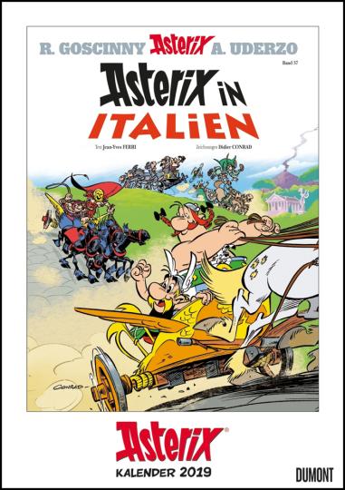 Asterix-Comiccover-Kalender 2019.