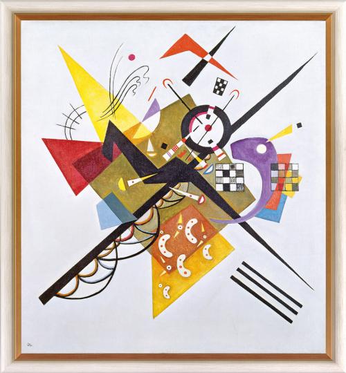 Auf Weiß II. Wassily Kandinsky (1866-1944).