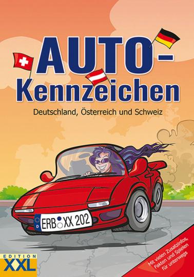 Auto-Kennzeichen. Deutschland, Österreich und Schweiz.
