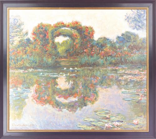 Blühende Rundbögen. Claude Monet (1840-1926).