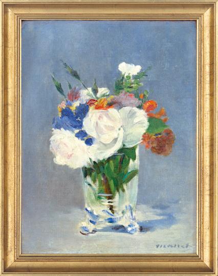 Blumen in einer Kristallvase. Edouard Manet (1832-1883).