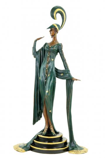 Bronzefigur Ferdinand Preiss »Art déco Revue-Tänzerin«.