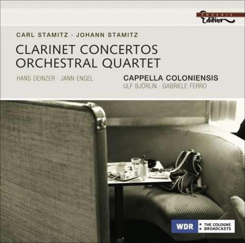 Carl Stamitz. Konzert Nr. 4 für 2 Klarinetten und Orchester B-Dur. Orchesterquartett G-Dur für Streicher. CD.
