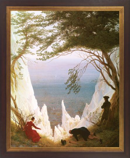 Caspar David Friedrich (1774 - 1840). Die Kreidefelsen von Rügen. 1818/1819.