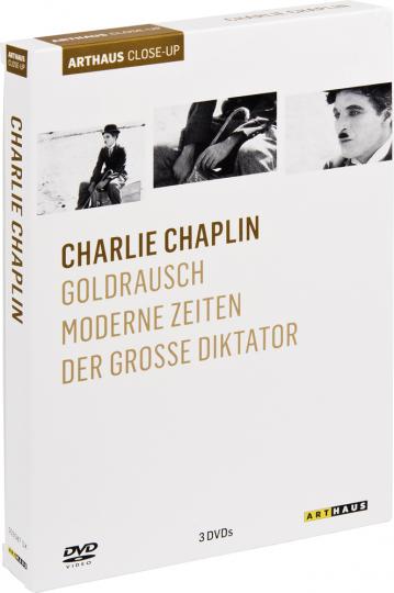Charlie Chaplin. Goldrausch, Moderne Zeiten, Der große Diktator. 3 DVDs.