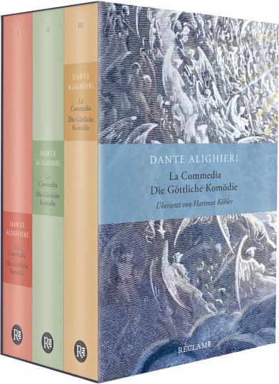 Dante Alighieri. La Commedia / Die Göttliche Komödie. Drei Bände im Schuber. Italienisch/Deutsch.