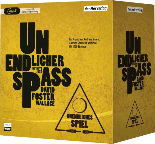 David Foster Wallace. Unendlicher Spaß. 10 mp3-CDs.