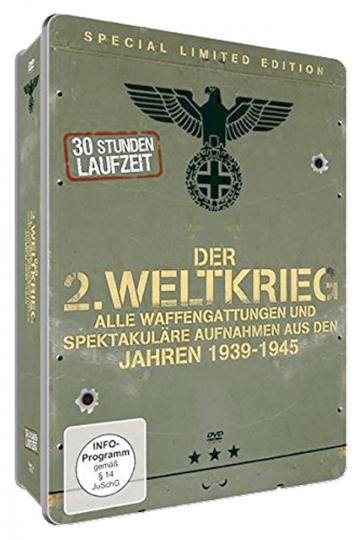 Der Zweite Weltkrieg - Alle Waffengattungen und spektakulären Aufnahmen aus den Jahren 1939-1945. 6 DVDs.