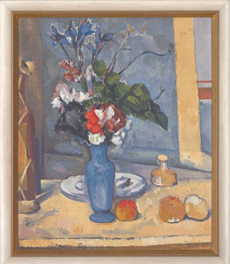 Die blaue Vase. Paul Cézanne (1839-1906.