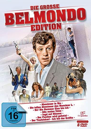 Die große Belmondo-Edition. 8 DVDs.