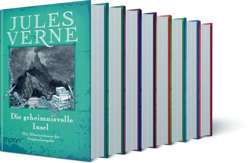 Die großen Romane von Jules Verne - 8 Bände im Paket zum Sonderpreis