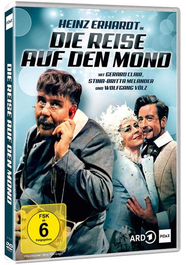Die Reise auf den Mond. DVD.
