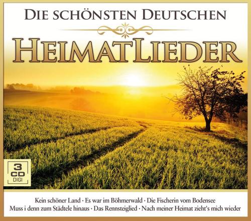 Die schönsten deutschen Heimatlieder. 3 CDs.