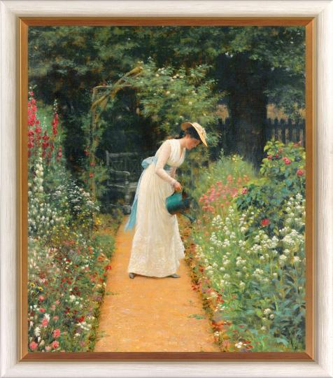Edmund Blair Leighton (1853 - 1922). My Lady's Garden (1905).