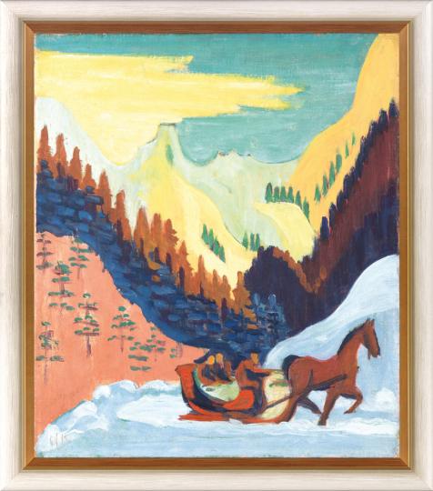 Ernst Ludwig Kirchner (1880 - 1938). Schlittenfahrt im Schnee. 1926.