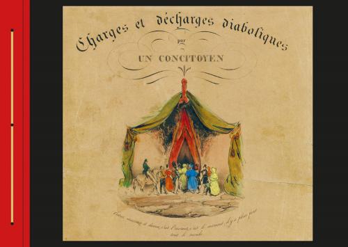 Eugène Le Poitevins. Charges et décharges diaboliques. Limitierte Ausgabe. Halbleder.