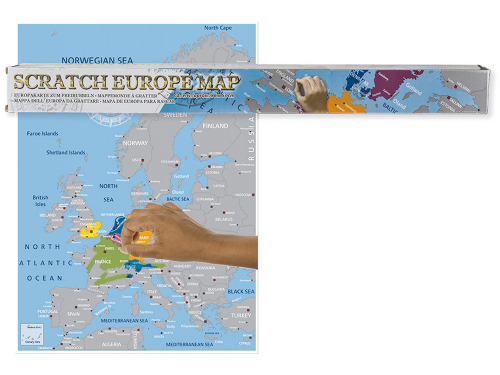Europakarte zum Freirubbeln.