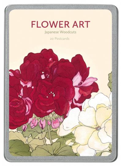 Flower Art. Japanische Holzschnitte. Postkarten-Set.