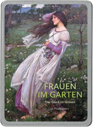 Frauen im Garten. Das Glück im Grünen. Postkarten-Set.