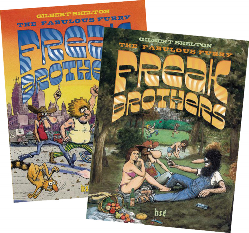 Freak Brothers Teil 1-2. The Fabulous Furry Freak Brothers. Graphic Novel. 2 Bände im Set.
