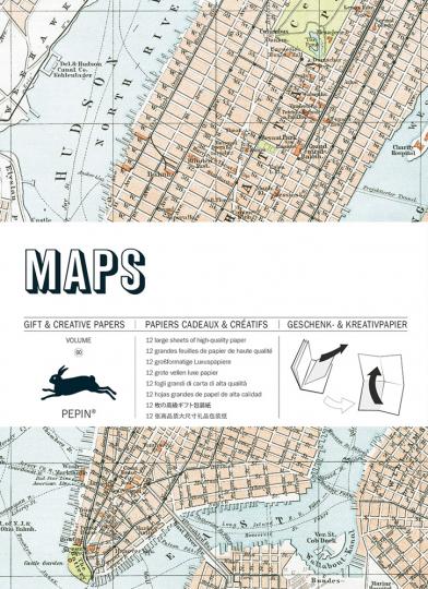 Geschenkpapier »Landkarten«.