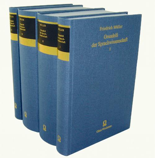 Grundriss der Sprachwissenschaft 4 Bände