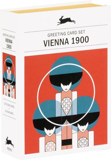 Grußkarten Set »Vienna 1900«. Wiener Moderne.