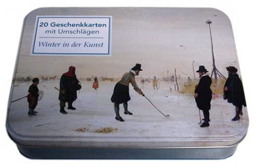 Grußkartenbox »Der Winter in der Kunst«.