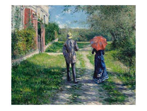 Gustave Caillebotte. Paar beim Spaziergang. 1881.