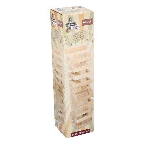 Holz Stapelspiel Jumbo. 60 Teile.
