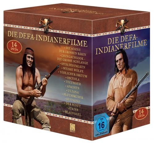 Indianer-Box (12x Gojko & Atkins & Blauvogel). 14 DVDs.