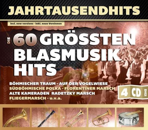 Jahrtausendhits. Die 60 größten Blasmusikhits. 4 CDs.