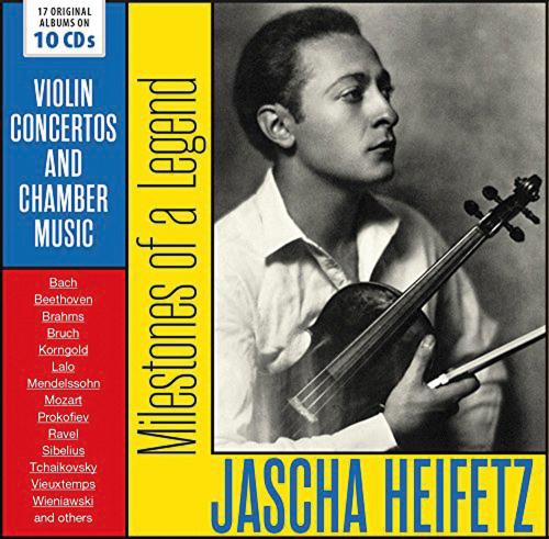Jascha Heifetz. Milestones of a Legend. 17 Original-Alben. 10 CDs.