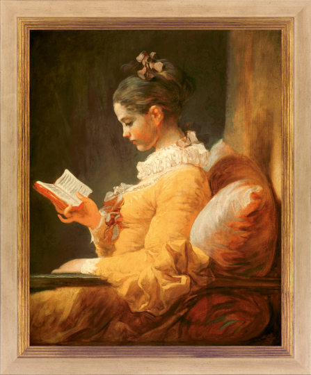 Jean Honoré Fragonard (1732 - 1806). Lesendes Mädchen. Um 1776.