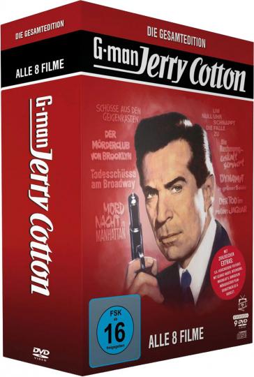 Jerry Cotton - Die Gesamtedition (8 Filme). 8 DVDs