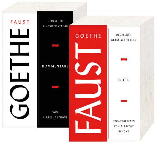 Johann Wolfgang Goethe. Faust. Zwei Teilbände. Texte und Kommentare.