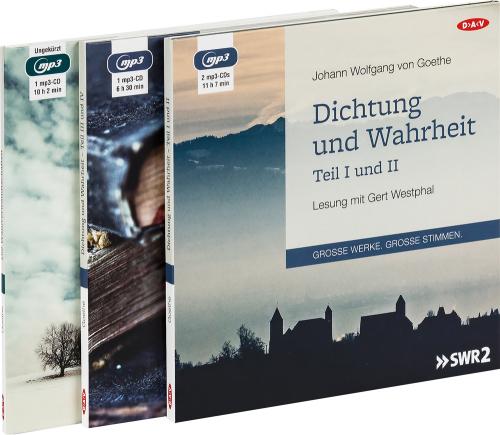 Johann Wolfgang von Goethe. Dichtung und Wahrheit & Wahlverwandtschaften. 4 MP3-CDs.
