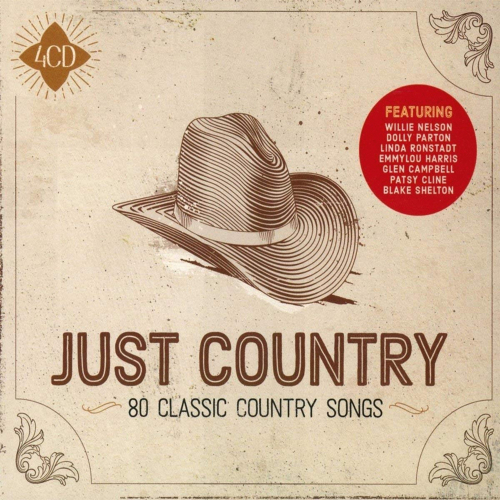 Just Country: 80 Classic Country Songs. 4 CDs.