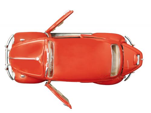 Käfer rot Maßstab 1:18