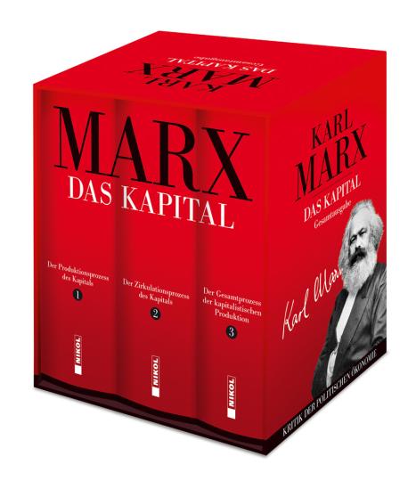 Karl Marx. Das Kapital. Gesamtausgabe. 3 Bände im Schuber.