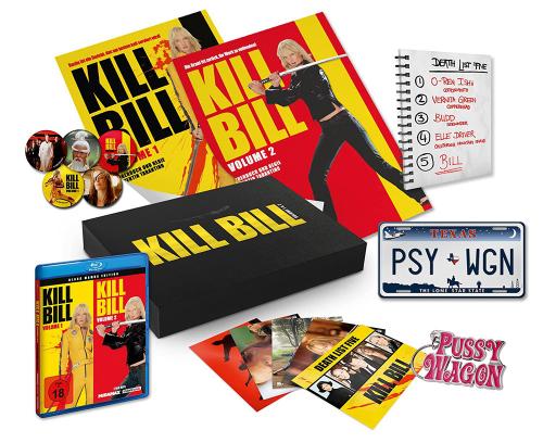 Kill Bill: Volume 1 & 2 (Black Mamba Edition - Ultimate Fan Collection) (Blu-ray). Box.