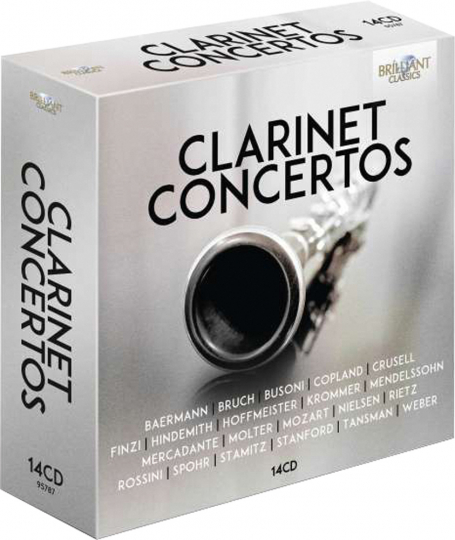 Klarinettenkonzerte. 14 CDs.