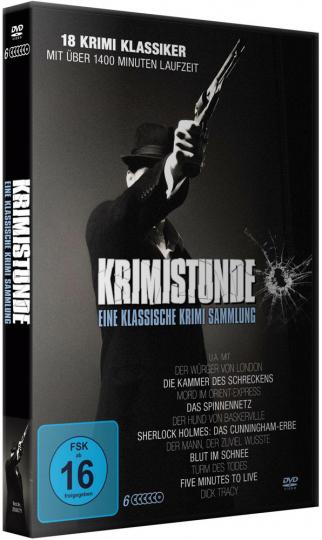 Krimistunde - Klassische Krimi Sammlung. 6 DVDs.