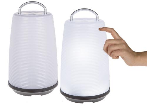 Weiße Tischleuchte mit LED.