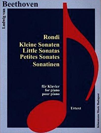 Ludwig van Beethoven. Rondi, Kleine Sonaten, Sonatinen. Noten für Klavier.