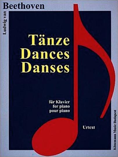Ludwig van Beethoven. Tänze. Noten für Klavier.